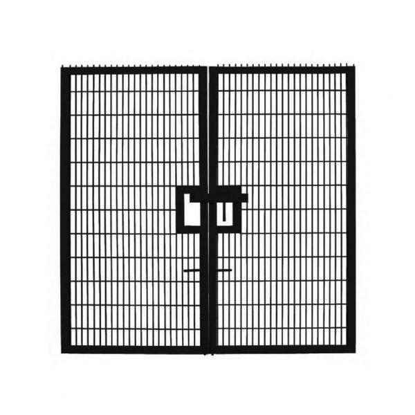 Double leaf twin wire mesh gate height adfabs